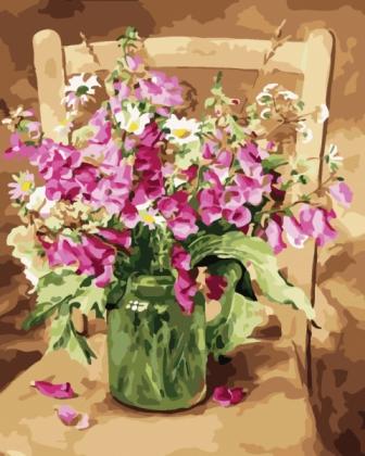 Творч Картина по номерам 40*50 Изящество цветов