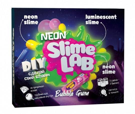 Набор для исследования Slime Lab Неон, бабл гам