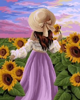 Творч Рисование по номерам 40Х50 В солнечных цветах