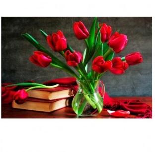 Творч Алмазная мозаика 20*30 Тюльпаны