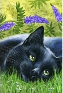 Творч Алмазная мозаика 20*30 Черный кот