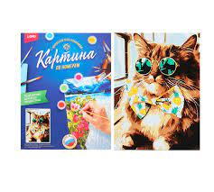 Творч Картина по номерам Модный котик