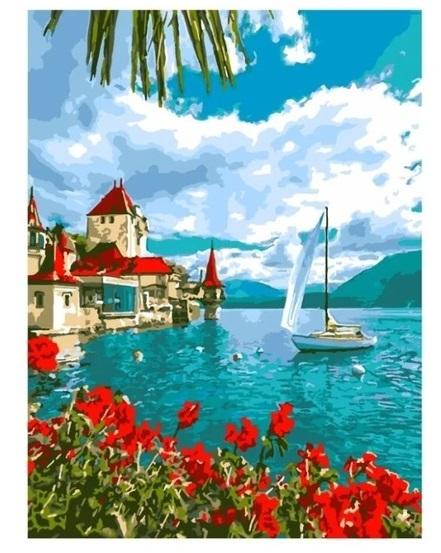 Творч Картина по номерам Крепость у воды