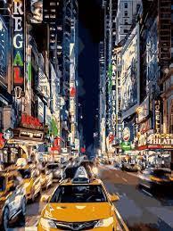 Творч Картина по номерам Ночное такси