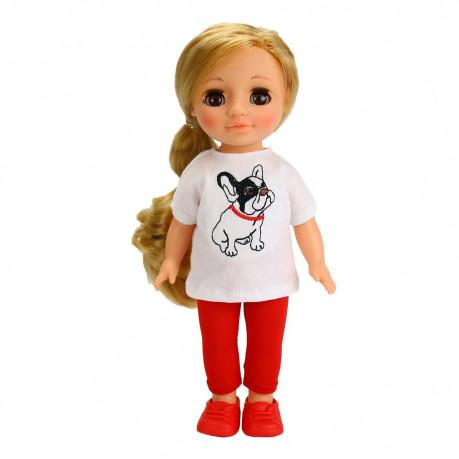 Кукла Ася с бульдожкой 26 см