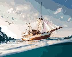 Творч Картина по номерам 40*50 Морское путешествие