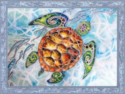 Творч Картина из пайеток 30*40 Подводный мир