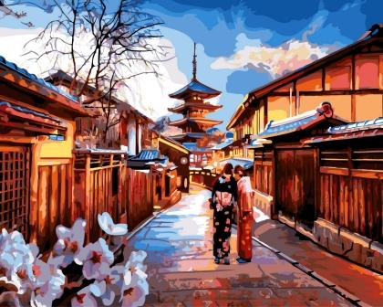 Творч Картина по номерам 40*50 Вечерний Киото