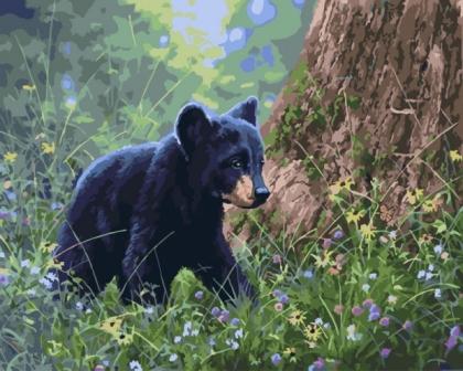 Творч Картина по номерам 40*50 Лесной житель
