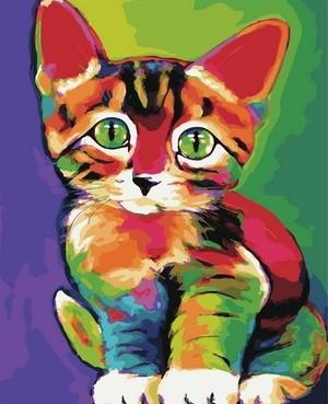 Творч Картина по номерам 40*50 Милый котенок