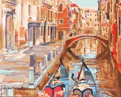 Творч Рисование по номерам 40*50 Очарование Венеции
