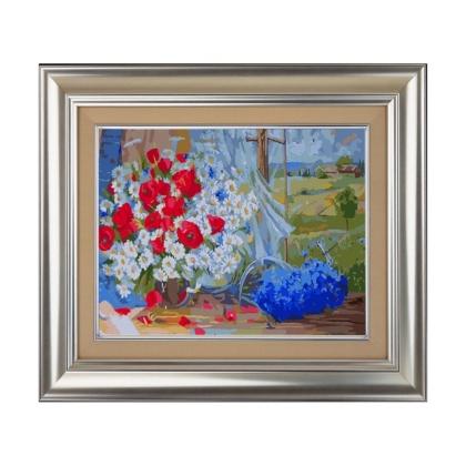 Творч Рисование по номерам 40*50 Полевые цветы