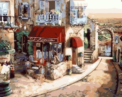 Творч Рисование по номерам 40*50 Уютное кафе