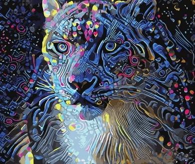 Творч Рисование по номерам 40*50 Цветастый зверь