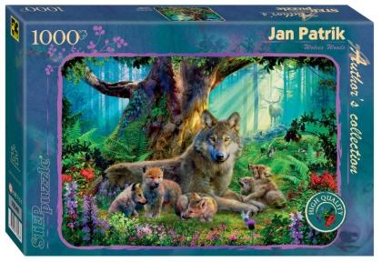 Пазл 1000 Step Лесные волки Ян Патрик