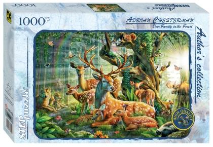 Пазл 1000 Step Мир лесных животных. Адриан Честерман