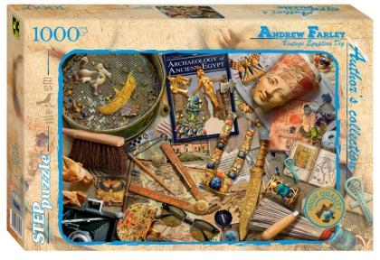 Пазл 1000 Step Старинные египетские артефакты. Эндрю Фардей