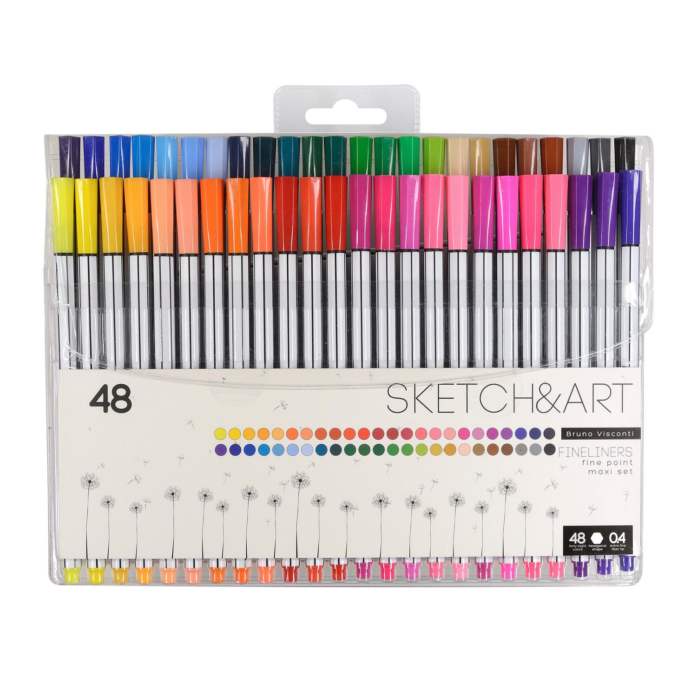 Ручки капиллярные 48 цв BV Sketch&Art (линеры)