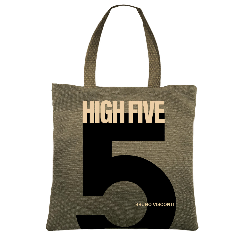 Сумка-шоппер BV квадратная, цвет хаки Пять 39x39