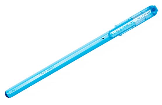 Ручка шариковая синяя Антибактериальная 0,7 мм + метал. наконечник