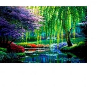 Творч Алмазная мозаика 40*50 Тихая река