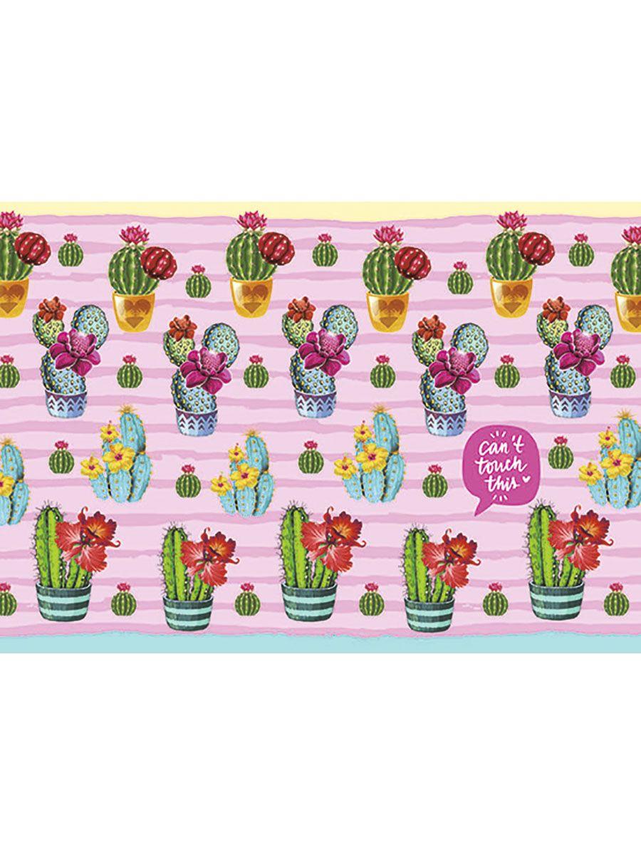 Коврик настольный детский А3 Цветущие кактусы