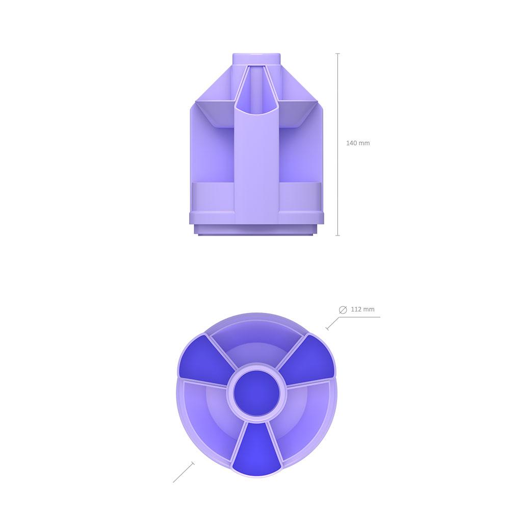 Организатор EK Mini Desk, Pastel, фиолетовый