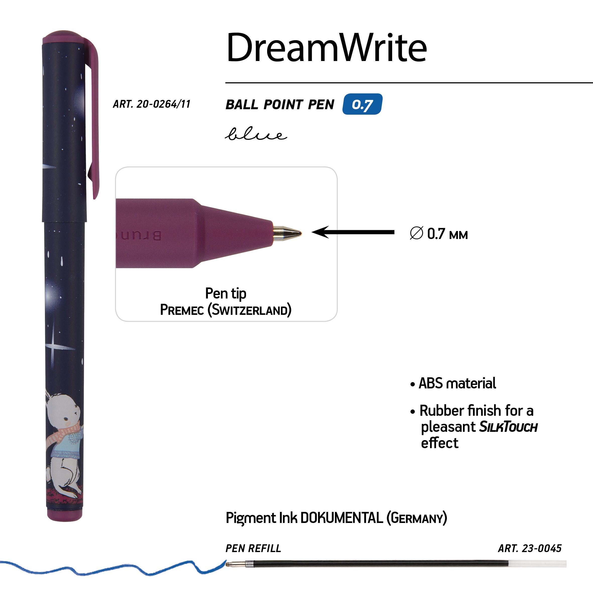 Ручка подар шар BV DreamWrite синяя 0,7мм Волшебная ночь