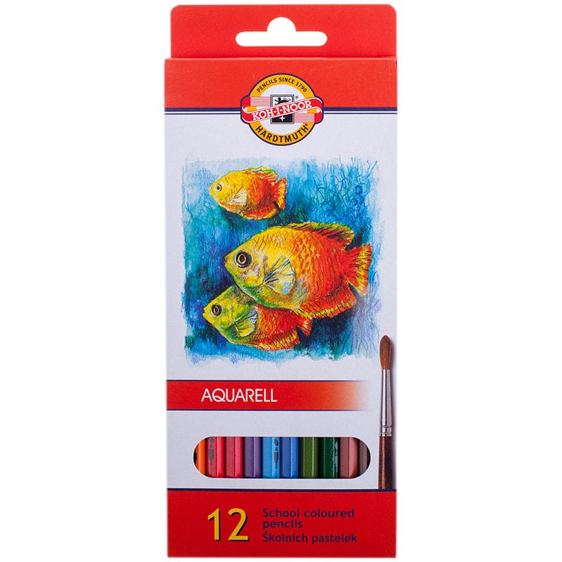 Карандаши цветные 12 цв K-I-N Mondeluz акварельные