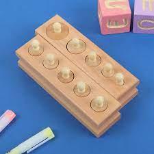 Игра деревянная Набор цилиндров Монтессори №2, 14*7 см