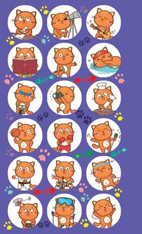 Наклейки 0-11-403А Котики рыжие