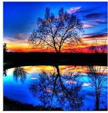 Творч Алмазная мозаика 40*50 Закат над озером