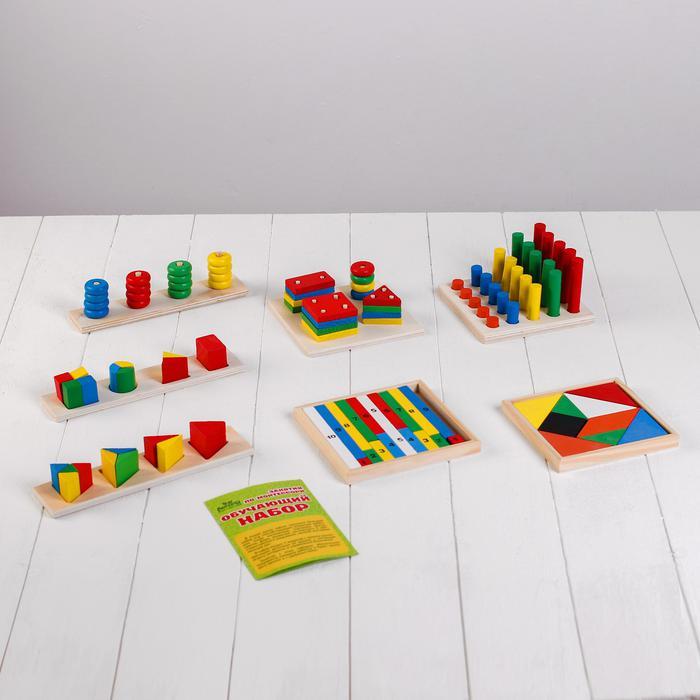 Игра деревянная Обучающий набор Занятия по Монтессори 7 игрушек