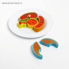 набор Продукты на липучке Мясо на тарелке