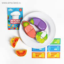 набор Продукты на липучке Овощи на тарелке