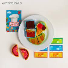набор Продукты на липучке Сладости на тарелке