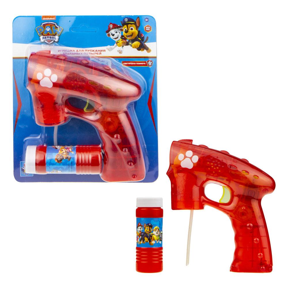 Пистолет с мыльными пузырями Щенячий патруль 60мл, свет