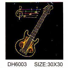 Творч Стринг-Арт Картина из гвоздей и ниток 30*30 Музыкальная гитара