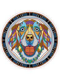 Творч Алмазная мозаика Круг 24см Собачка