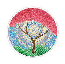 Творч Алмазная мозаика Круг 24см Цветущее дерево