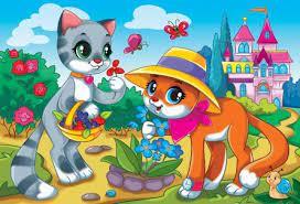 Творч Мозаика из помпонов А4 Красивые котята