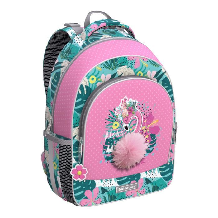 Ранец EK Rose Flamingo зеленый с розовым