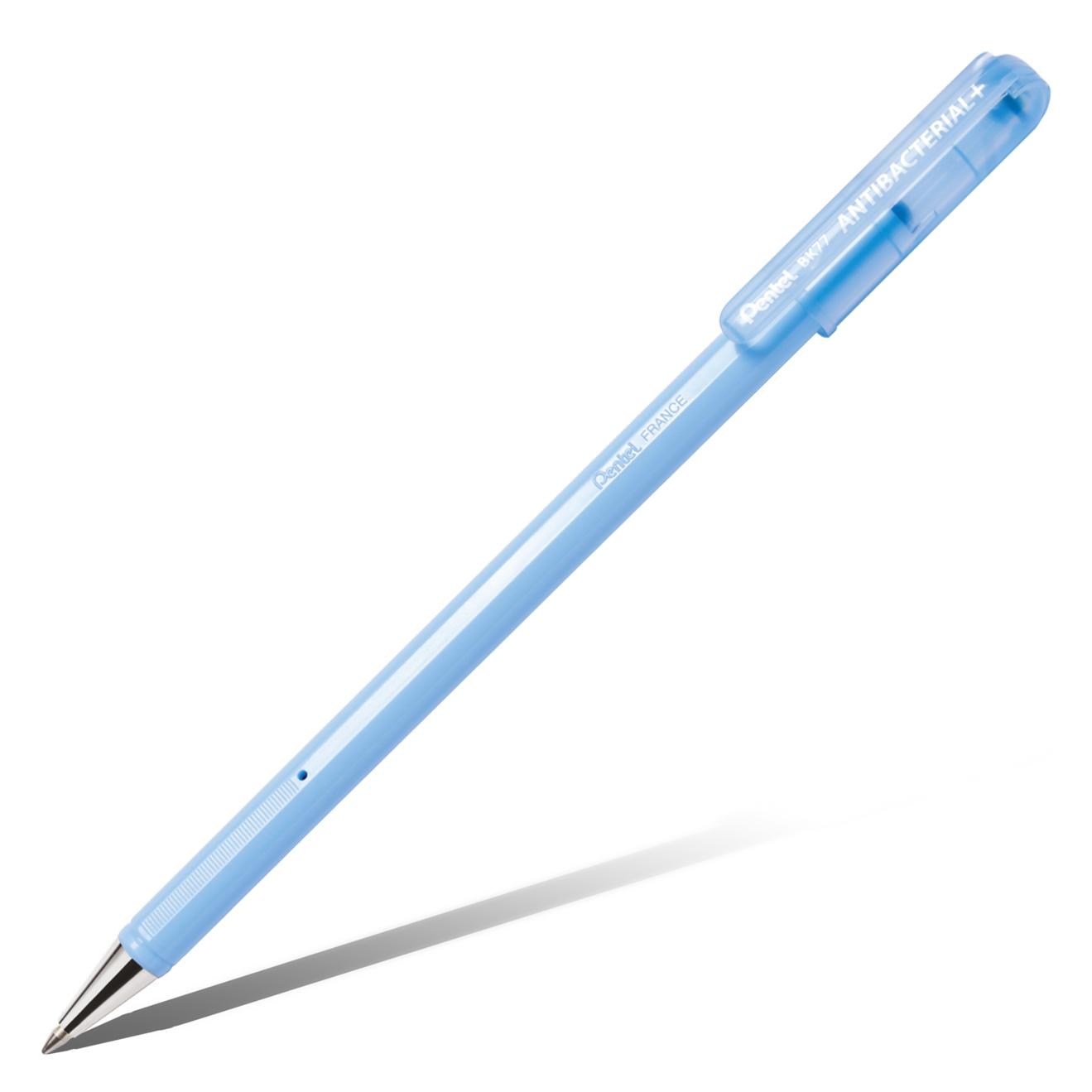 Ручка шариковая синяя Антибактериальная 0,7 Antibacterial+ , металлич.наконеч