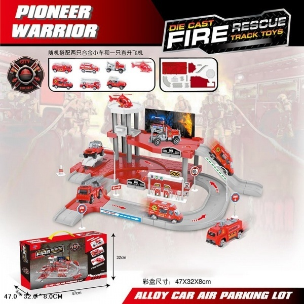 Набор Парковка 3 уровня с машинками и аксесс Fire