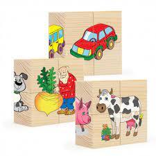 Кубики 12шт Пазл для малышей №2