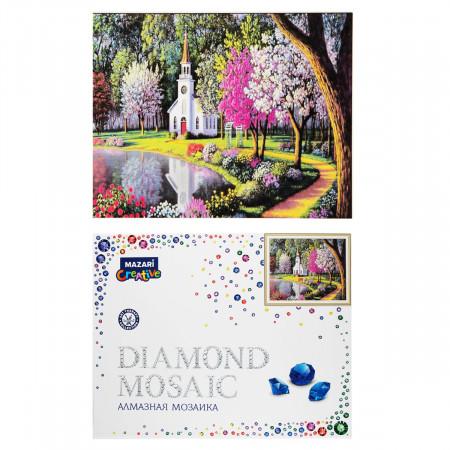 Творч Алмазная мозаика 40*50 Необыкновенный сад + рама 52*40,5