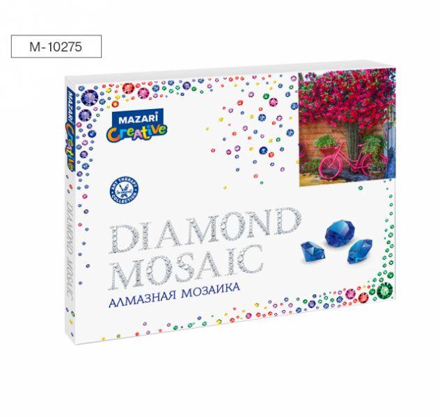 Творч Алмазная мозаика 40*50 Розовый велосипед +рама 52*40,5