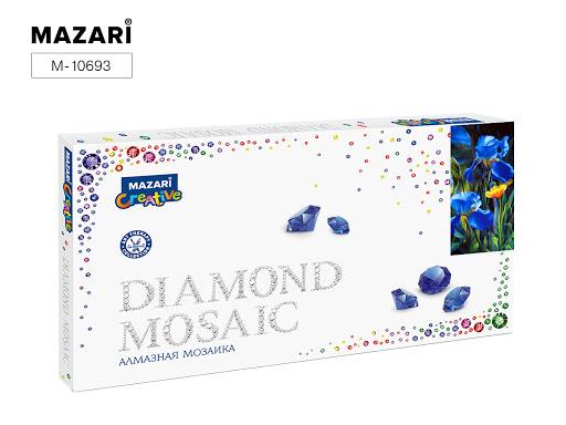 Творч Алмазная мозаика 22*40 Ирисы