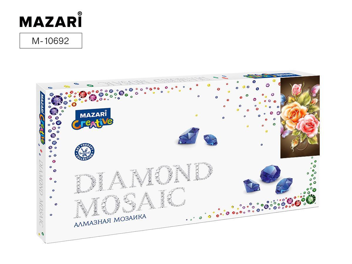 Творч Алмазная мозаика 22*40 Розы и бабочки