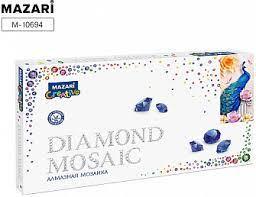 Творч Алмазная мозаика 22*40 Бирюзовый павлин